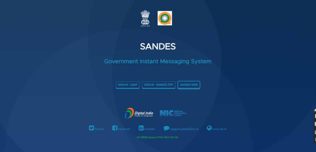 Sandes, Indian government's alternative to WhatsApp